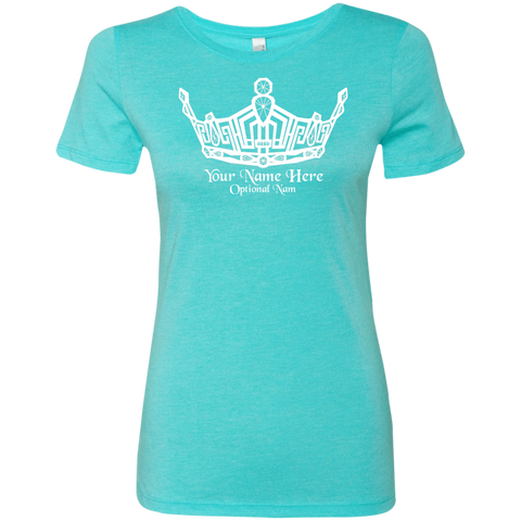Image of Miss Clark County - Personalized Name - Triblend T-Shirt