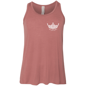 Miss Clark County Personalized - Youth Flowy Racerback Tank