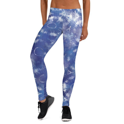 Blue Mandala Tie Dye Pattern Leggings