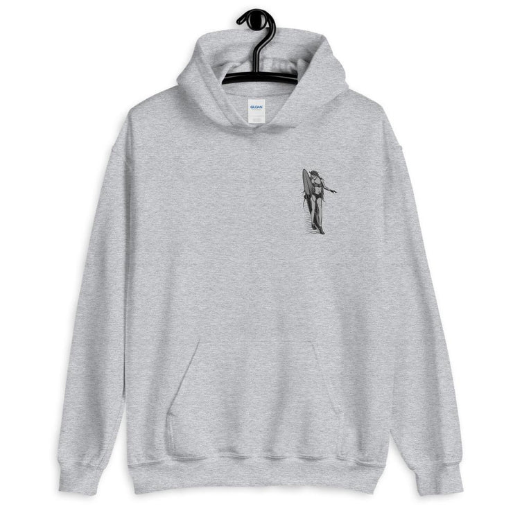 Black and White Surfer Girl Hoodie