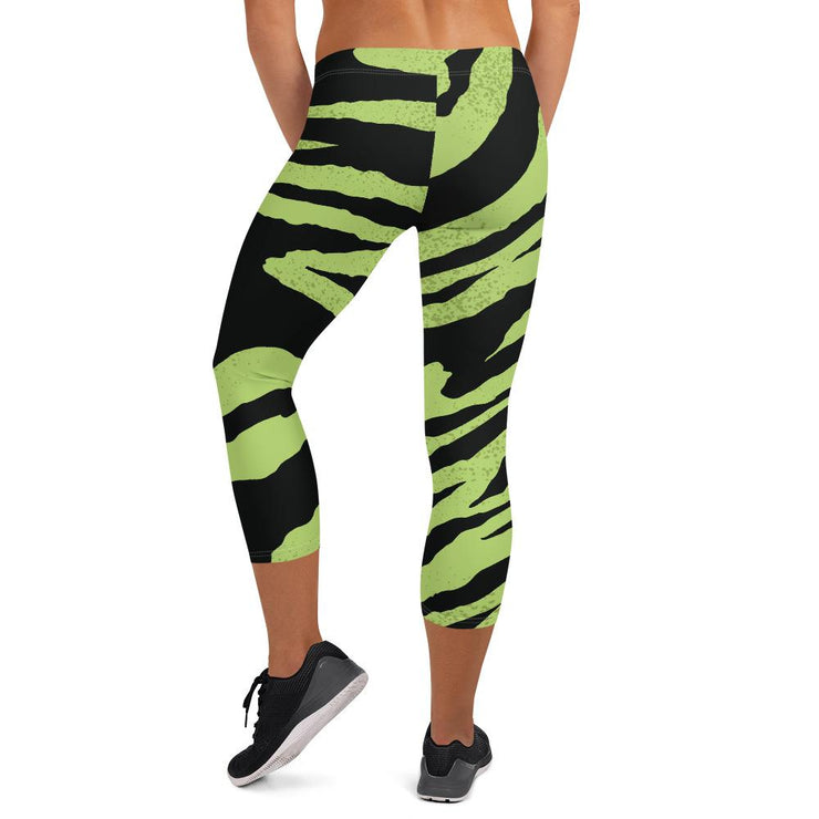 Bold Animal Print Capri Leggings