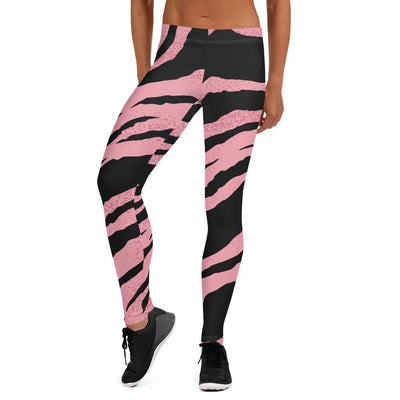 Bold Animal Print Pink and Black Leggings