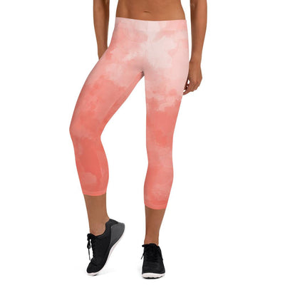 Coral Sky Capri Leggings