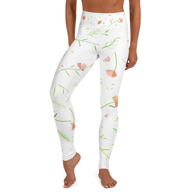 Blooming Flowers Yoga Leggings