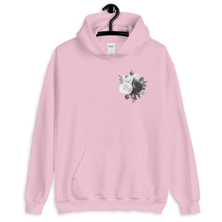 Black and White Bouquet Unisex Hoodie