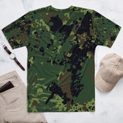 Green and Black Camo Men's T-Shirt