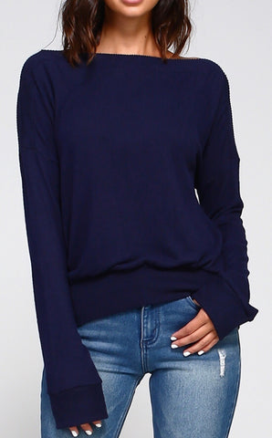 Solid Boat Neck Top