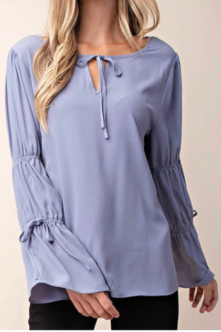 Silky Bell Sleeve Top