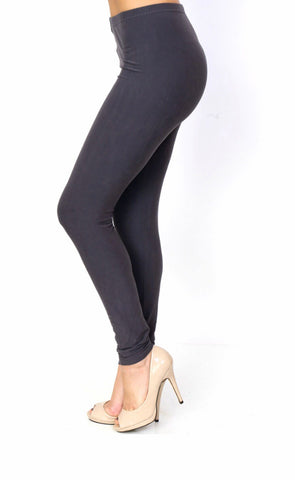 Peach Skin Solid Leggings