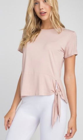 Light Weight Cotton Tie Front Knot Top