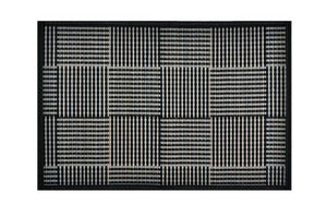 Placemat Black with Grey Square Pattern - Cozy Indoor Outdoor Furniture
