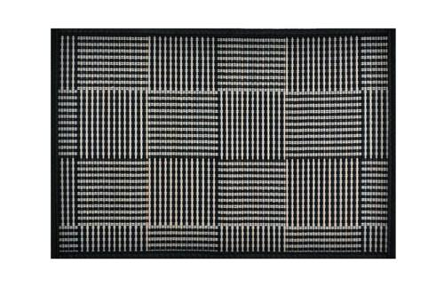 Placemat Black with Grey Square Pattern
