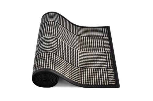 Runner Black with Grey Square Pattern - Cozy Indoor Outdoor Furniture