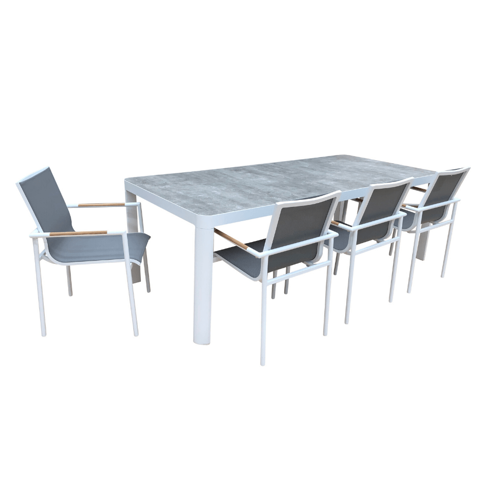 9PCE Florence Dining Setting - Cozy Indoor Outdoor Furniture