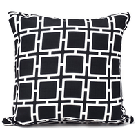 Outdoor Cushion Black 45x45cm - Cozy Indoor Outdoor Furniture