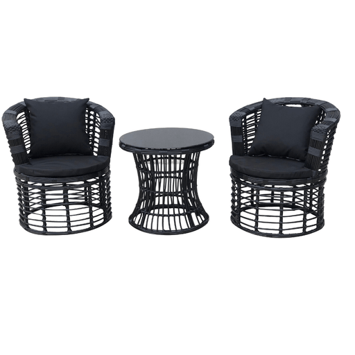 opal swivel outdoor 3 piece dining setting outdoor furniture bamboo wicker resin cozy furniture