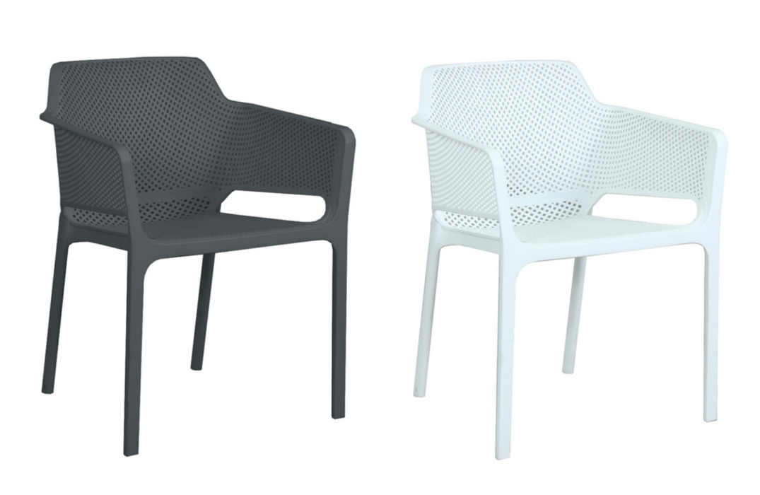 Lido Resin Cafe Chair - Charcoal