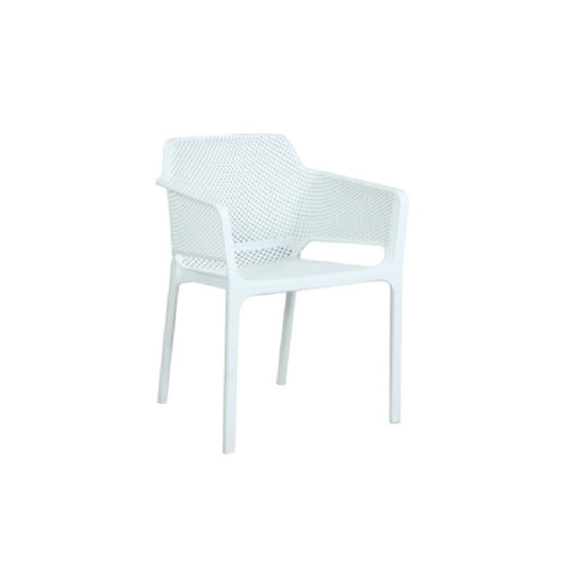 Lido Resin Cafe Chair - White