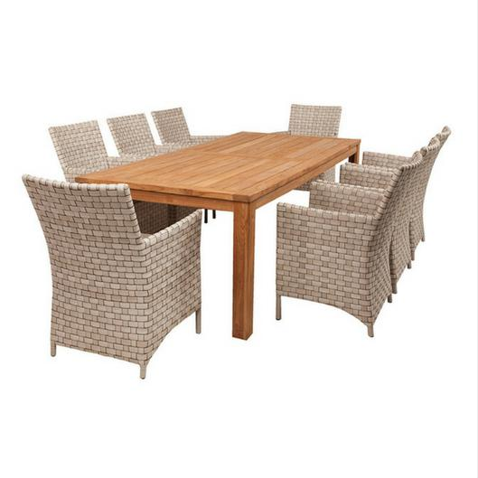 9PCE Belmont and Owen Dining - Cozy Indoor Outdoor Furniture