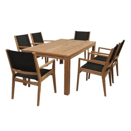 Belmont and Winton Sling Dining Setting - Cozy Indoor Outdoor Furniture