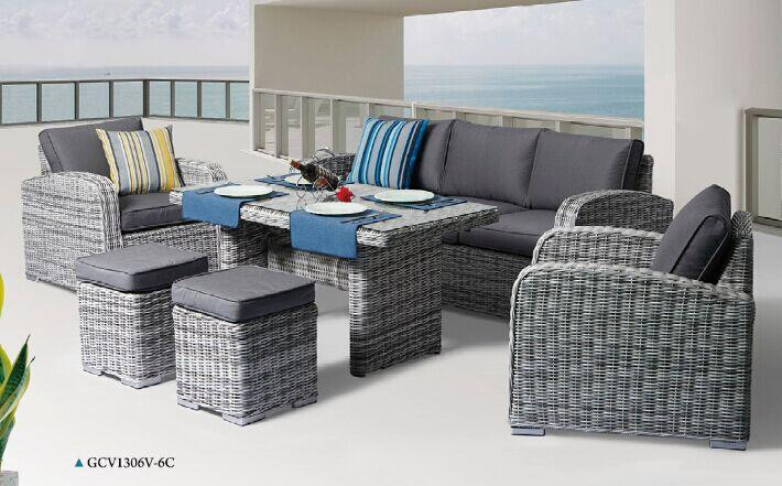 6PCE Miami Wicker Lounge Setting - Cozy Indoor Outdoor Furniture