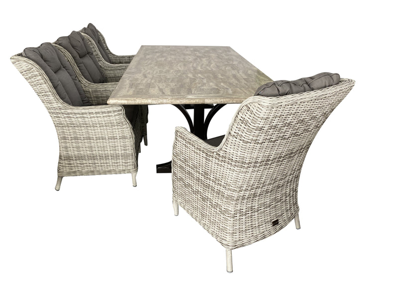9PCE Pompeii & San Jose Dining Setting - Cozy Indoor Outdoor Furniture