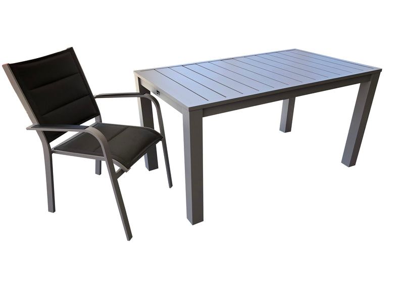 Como Dining Table with Pandora & Ancona Dining Chair - Cozy Indoor Outdoor Furniture