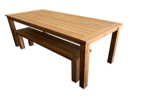 3PCE Belmont Bench Setting - Cozy Indoor Outdoor Furniture
