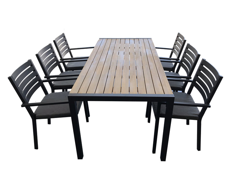 9PCE Mayfair Dining Setting - Cozy Indoor Outdoor Furniture