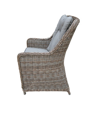 Bombay Wicker Dining Chair - Cozy Indoor Outdoor Furniture