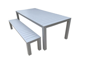 3PCE Como Bench Dining Setting - Cozy Indoor Outdoor Furniture