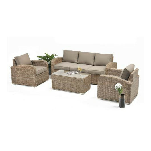 4PCE Miami Wicker Lounge Setting