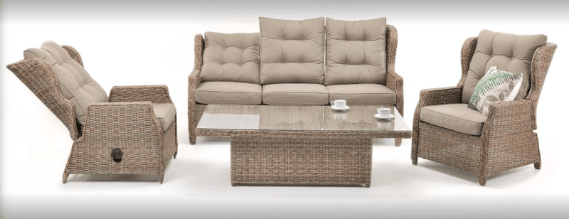 4PCE Buenos Aires Wicker Lounge Setting - Cozy Furniture