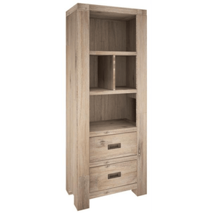 Oyster Bay Bookshelf 2 Drawer - Cozy Indoor Outdoor Furniture