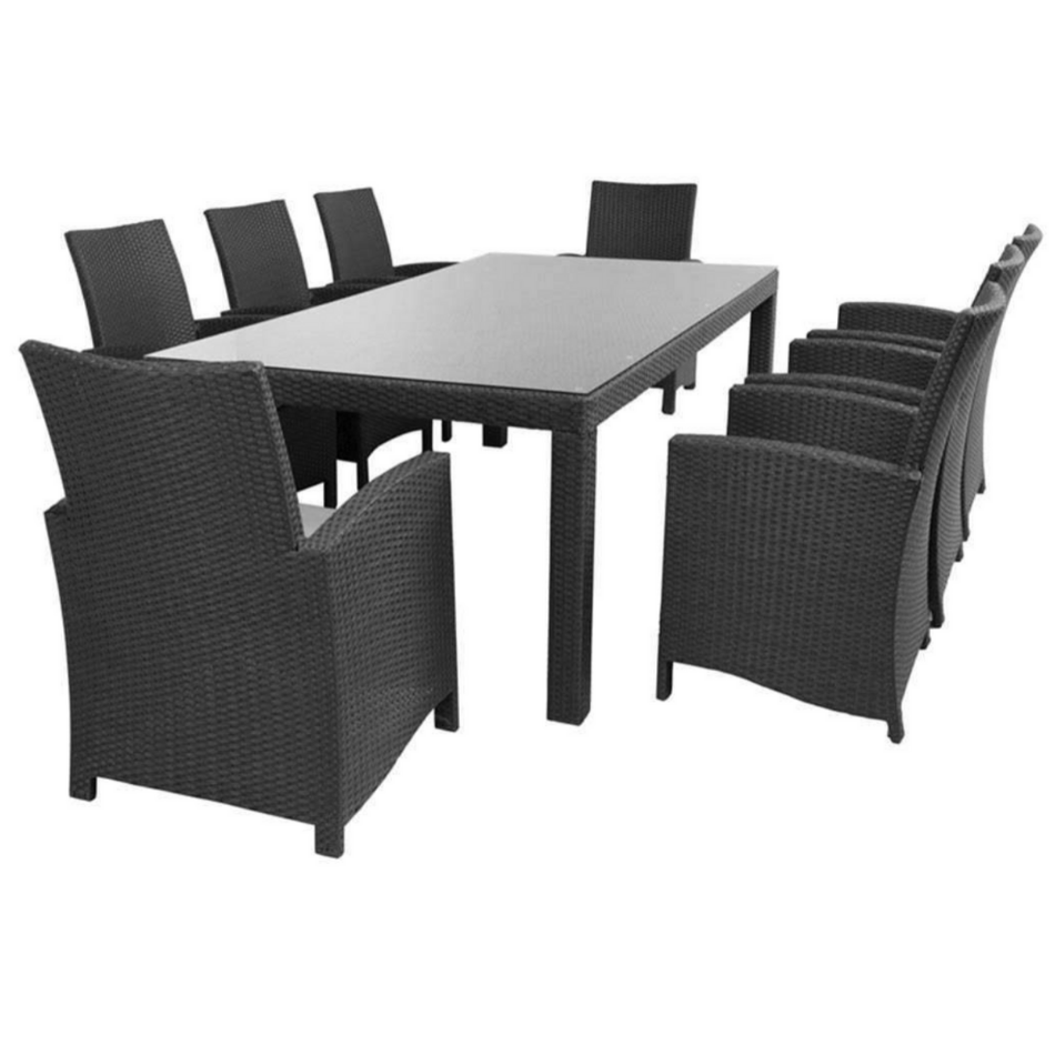 9PCE Stanley & Mirage Dining Setting - Cozy Indoor Outdoor Furniture