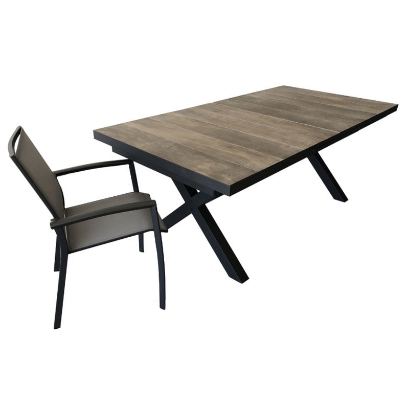 9PCE Roma Extension Dining Setting - Cozy Indoor Outdoor Furniture