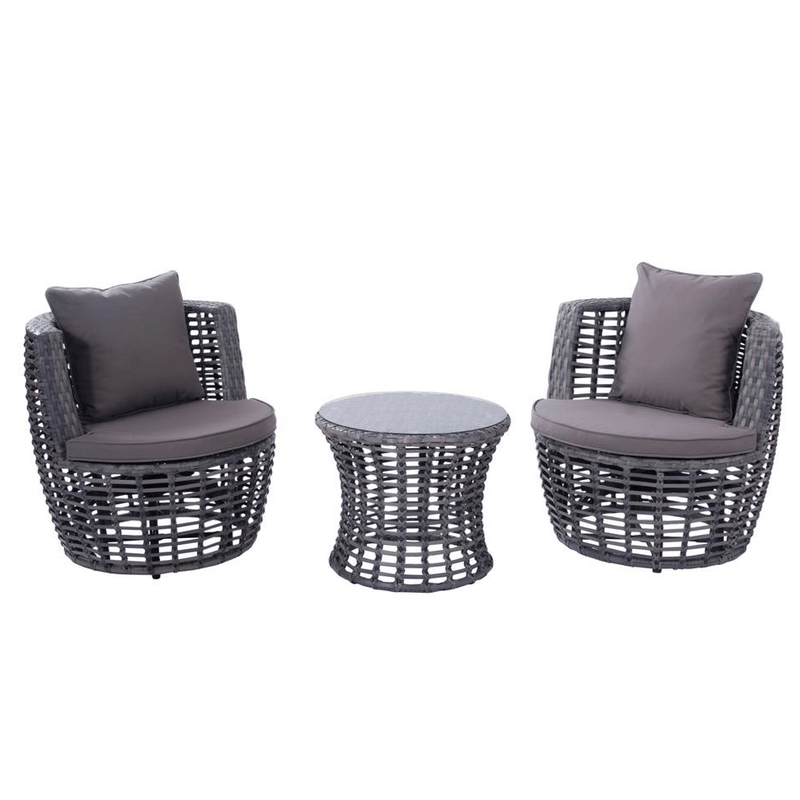 Lorenzo 3 Piece Swivel - Cozy Indoor Outdoor Furniture