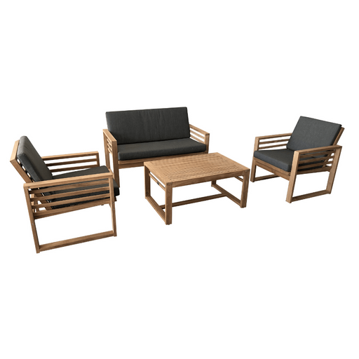 4PCE Daytona lounge setting cozy furniture recycled teak