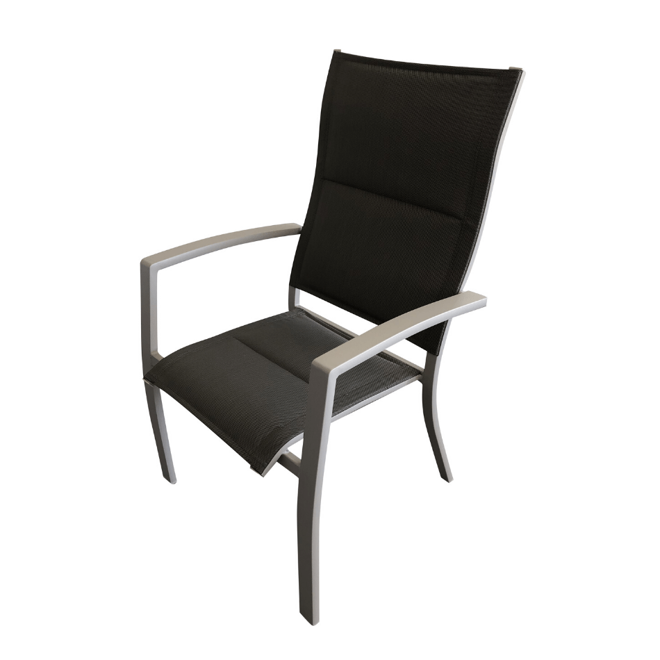 Pesaro Padded Sling Dining Chair - Cozy Indoor Outdoor Furniture