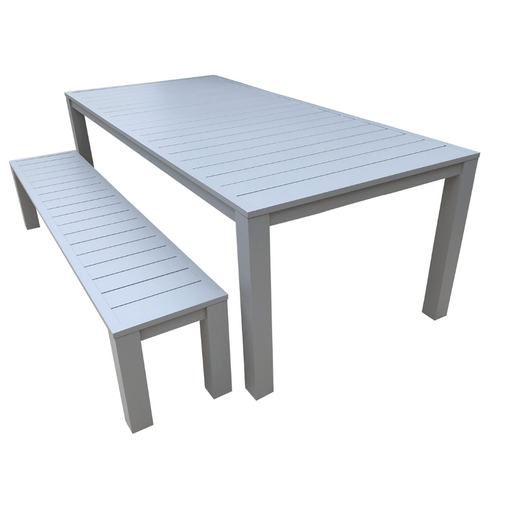 Como bench dining setting aluminium powder coated outdoor furniture cozy furniture