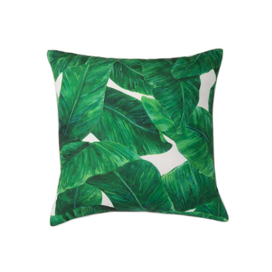 Musa Green Leaf Cushion 50x50cm - Cozy Indoor Outdoor Furniture
