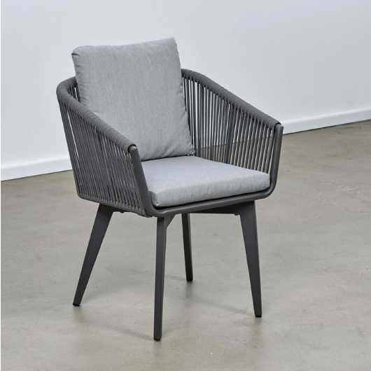 Diva Rope Aluminium Dining Chair - Cozy Indoor Outdoor Furniture