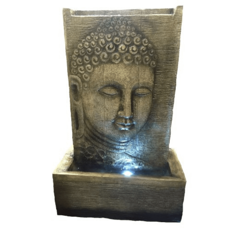 Buddha Head Water Fountain - Cozy Indoor Outdoor Furniture