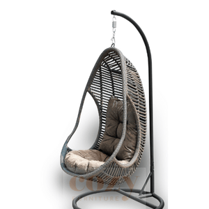 Beachwood Hanging Egg Basket - Cozy Indoor Outdoor Furniture