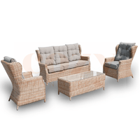 4PCE Buenos Aires Wicker Lounge Setting - Cozy Indoor Outdoor Furniture