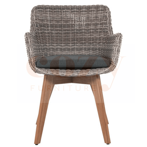 Colorado Wicker Teak Dining Chair
