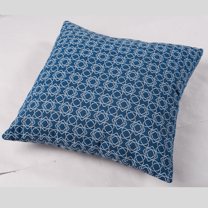 Bells Navy Cushion 45cm x 45cm - Cozy Indoor Outdoor Furniture