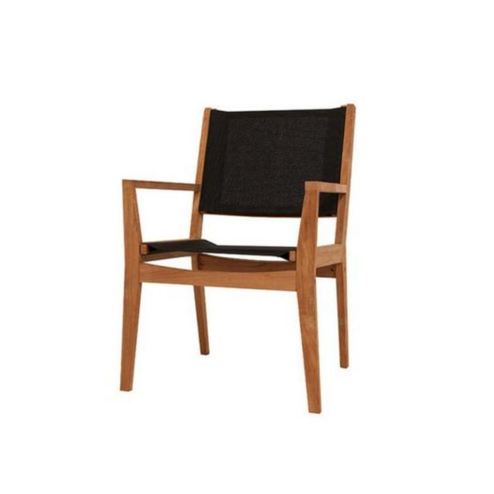 Winton Teak Sling Dining Chair - Cozy Indoor Outdoor Furniture