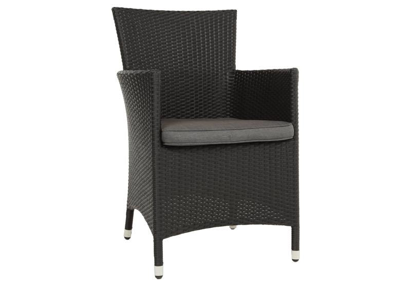 Chevron Wicker Dining Chair
