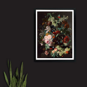 Dark Floral Still Life Painting - Venus Art Prints